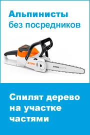 Спилить дерево частями на участке в Москве и Московской области